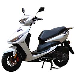 50cc, 150cc, 250cc and 300cc Scooters and Mopeds