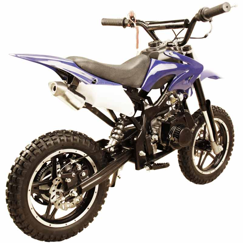 Qg X Blue on 50cc Pocket Bike Frame