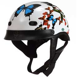 Butterfly Shorty Motorcycle Helmet