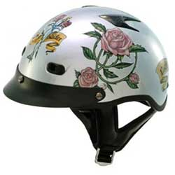 Lady Rider Shorty Motorcycle Beanie Helmet