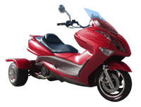 Ice Bear Cruiser 150-11 Trike Scooter (Color: Burgundy)