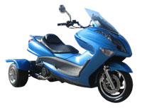 Ice Bear Cruiser 150-11 Trike Scooter (Color: Metallic Blue)