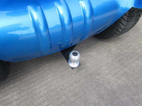 Included ball hitch can tow up to 110 pounds.