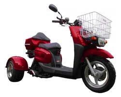 Ice Bear Ace 50S9R Trike Scooter (Color: Burgundy)