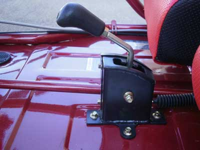 Convenient hand shifter makes it easy to go from nuetral to forward or reverse.