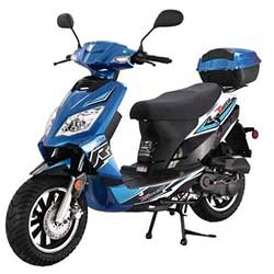 Tao Thunder 49cc Scooter - Blue